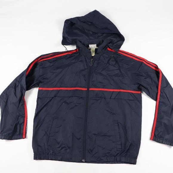 80s Adidas Mens Large Hooded Windbreaker Jacket